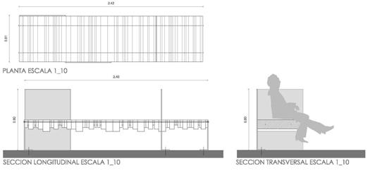 Concurso concurso de mobiliario urbano del ii foro da for Mobiliario para planos
